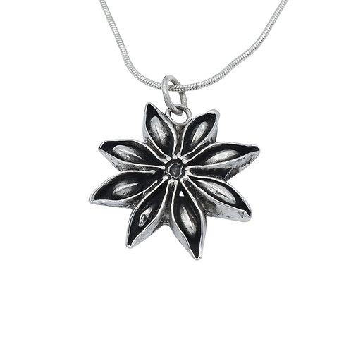 Fine Silver Star Anise Pendant