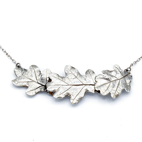 Three Oak Leaf Necklace on Chain