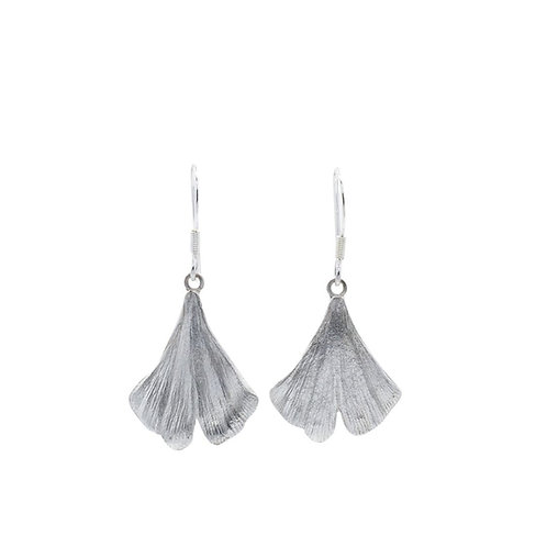 Large Gingko Leaf Drop Earrings