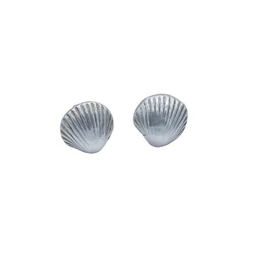 Cockle Shell Stud Earrings