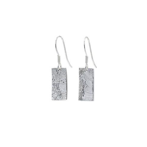 Rectangle Agapanthus Imprint Drop Earrings