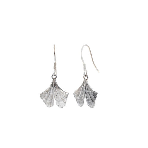 Medium Gingko Leaf Drop Earrings