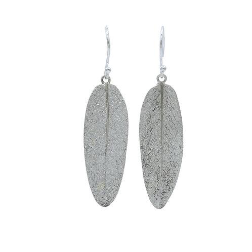 Sage Leaf Drop Earrings