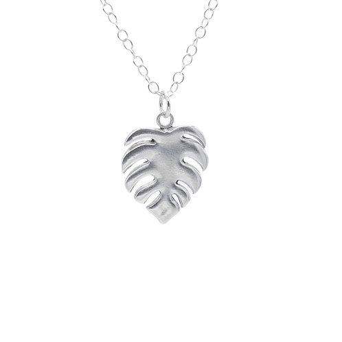 Cheese Plant / Monstera Fine Silver  pendant