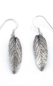 Sage Leaf Drop Earrings
