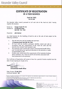 Food Business Certificate