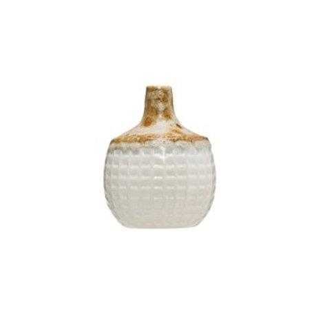 Stoneware Basket Weave Vase