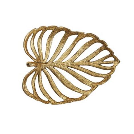 Decorative Cast Iron Leaf, Gold Fin