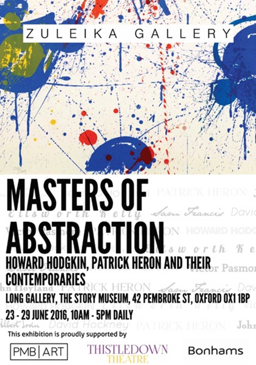 Maters of Abstraction exhibition flyer