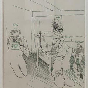 Sketch of Hockney, 1965