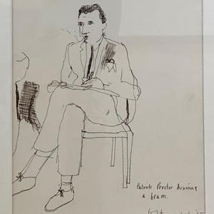 Sketch of Patrick Procktor, 1965