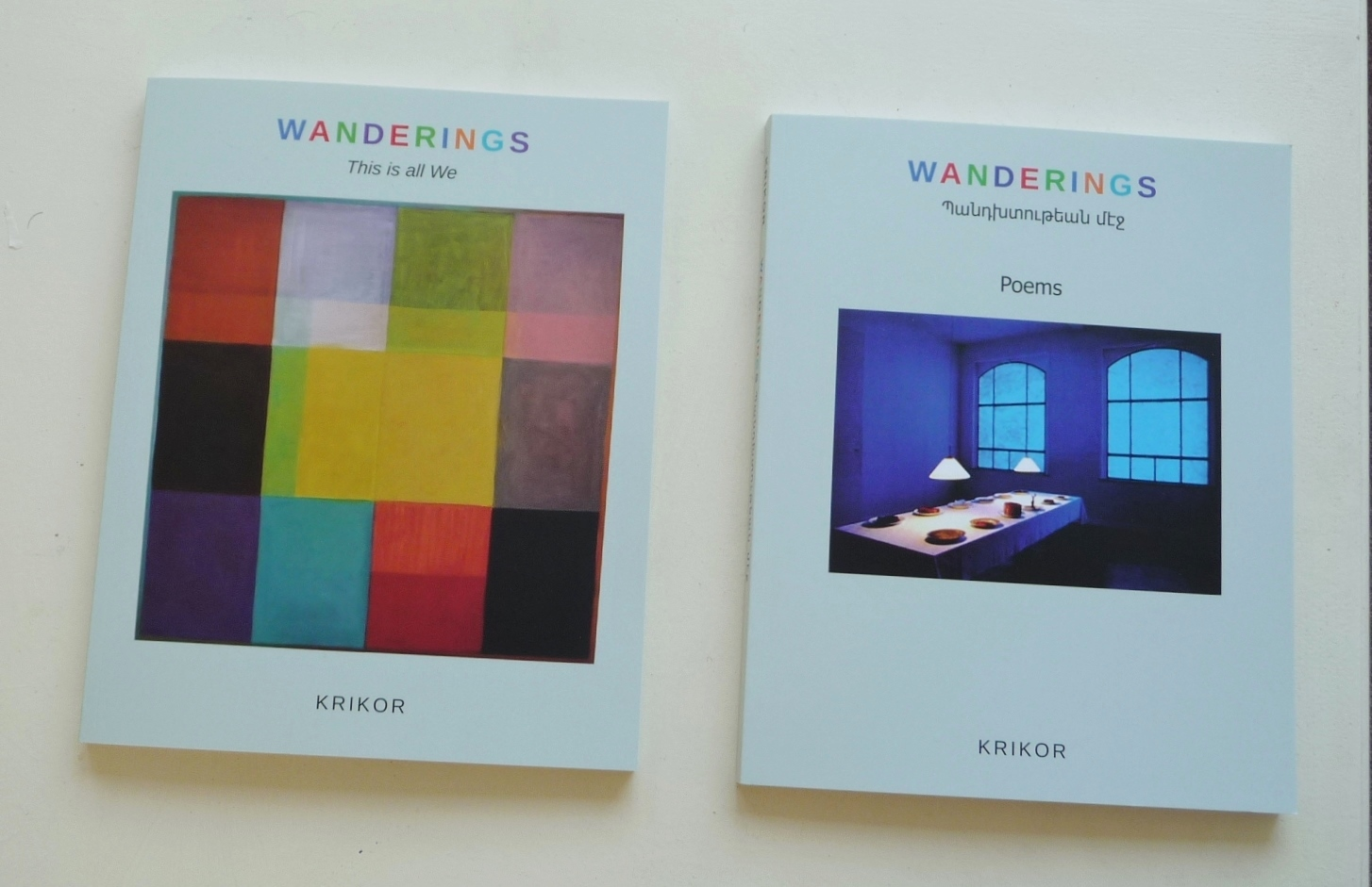 Twee Boeken -KRIKOR - WANDERINGS
