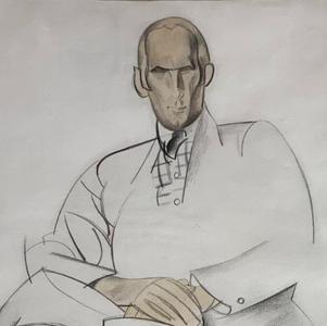 Portrait of Edward Wadsworth, 1920