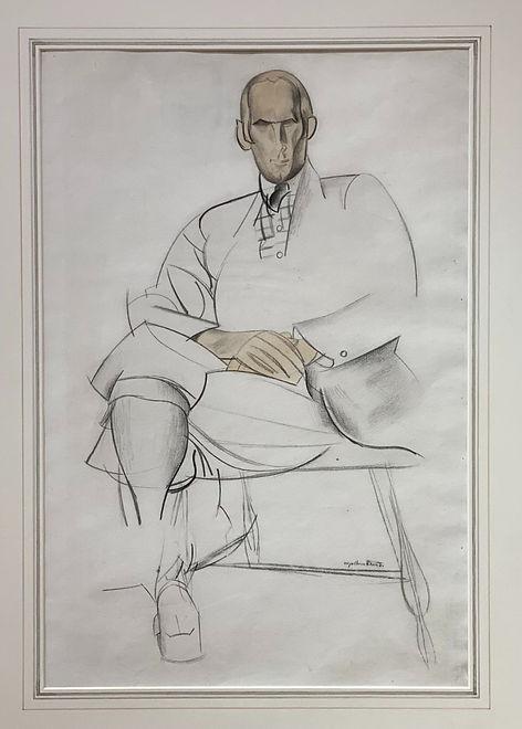 Portrait of Edward Wadsworth - Percy Wyndham Lewis