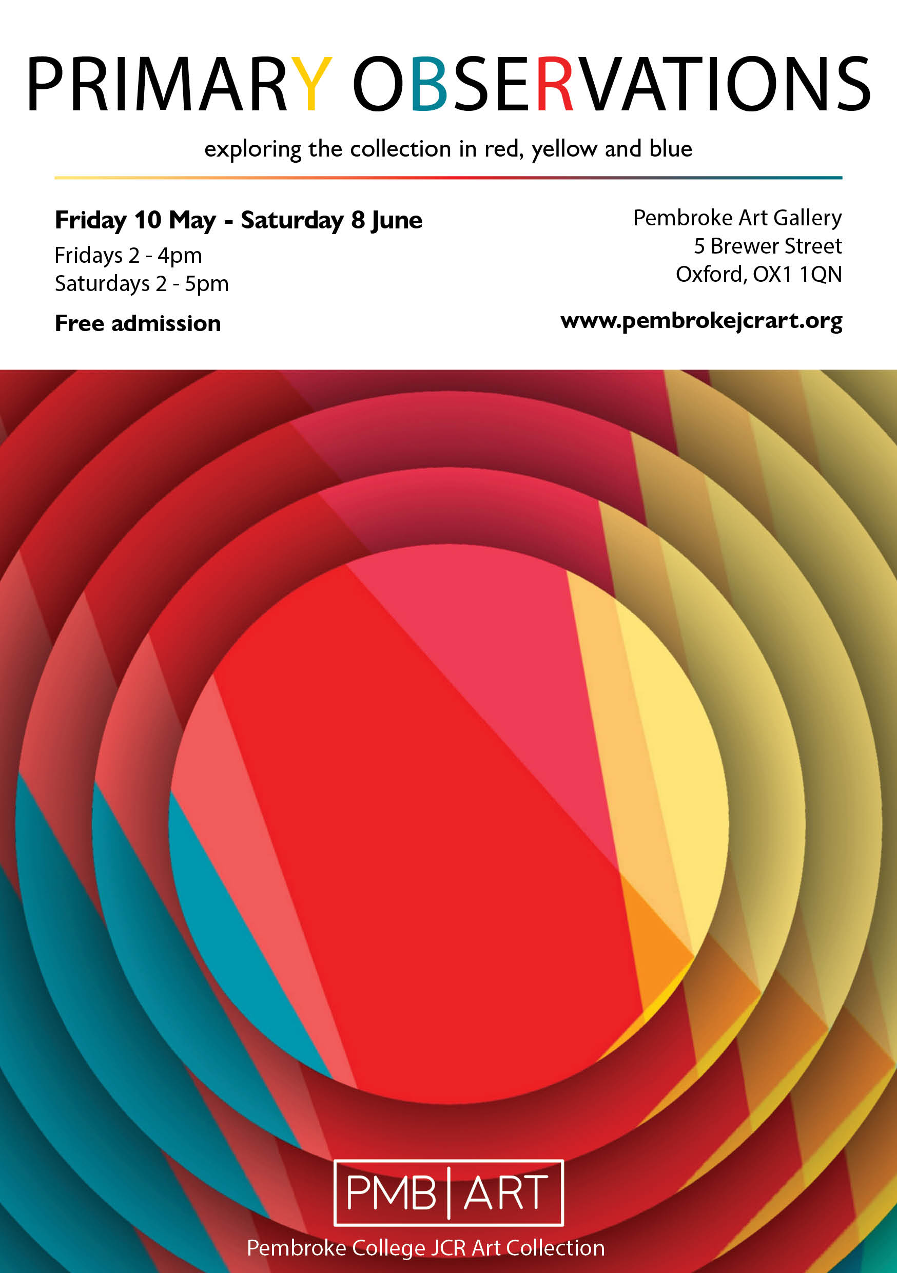 Primary Observations Exhibition Flyer v.