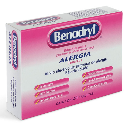 Benadryl 25mg x 50 tabs