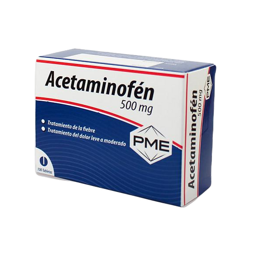 Acetaminofen 500mg tab x 10