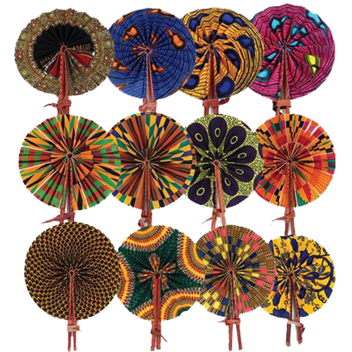African folding fans