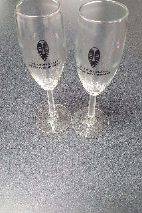 The Black Rep Champagne Glasses