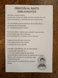 Oración al Beato Carlo Acutis