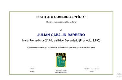 CABALIN BARBERO, Julián. MEJOR PROMEDIO