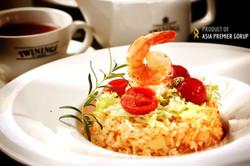 季節性主廚推薦:南洋鮮蝦燉飯