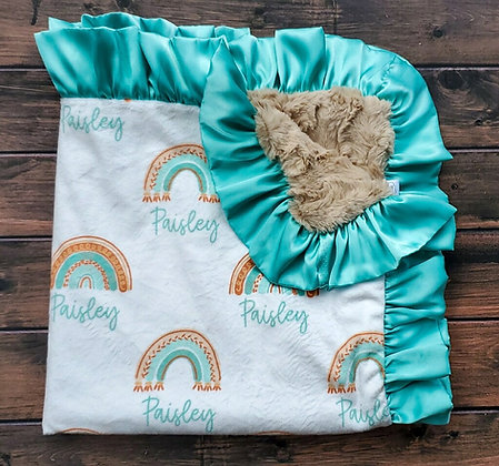 Personalized Boho Baby (Mint)