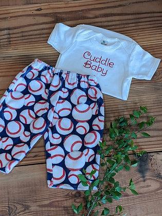 Baseball Cuddle Baby Set