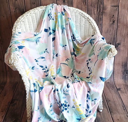 Watercolor Floral Cozy Oversize Swaddle