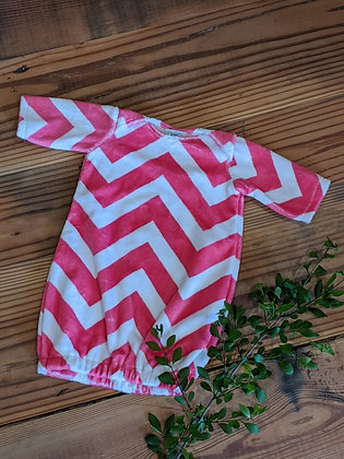 Hot Pink Chevron Sack Gown