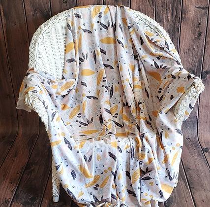 Mustard Floral Cozy Oversize Swaddle