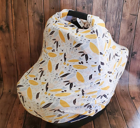 Mustard Floral Multi-Use Cuddle Cover
