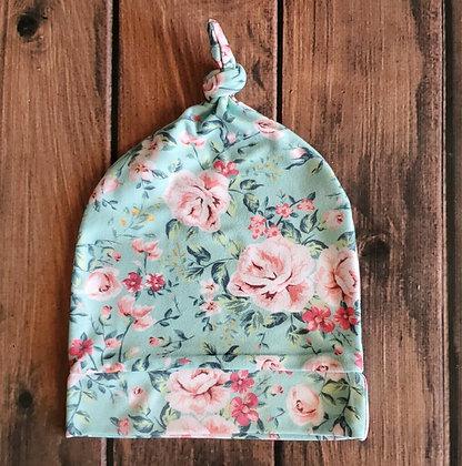 Vintage Floral Cozy Knotted Cap