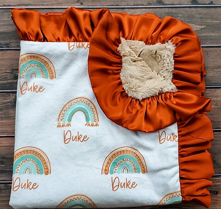 Personalized Boho Baby (Rust)