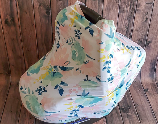 Watercolor Floral Multi-Use Cuddle Cover