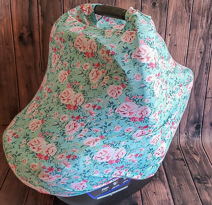 Vintage Floral Multi-Use Cuddle Cover
