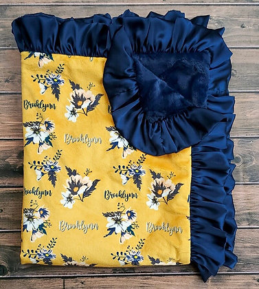 Personalized Mustard Floral