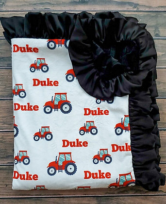 Personalized Red Tractor