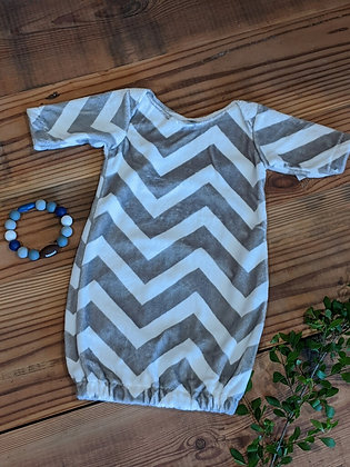 Gray Chevron Sack Gown
