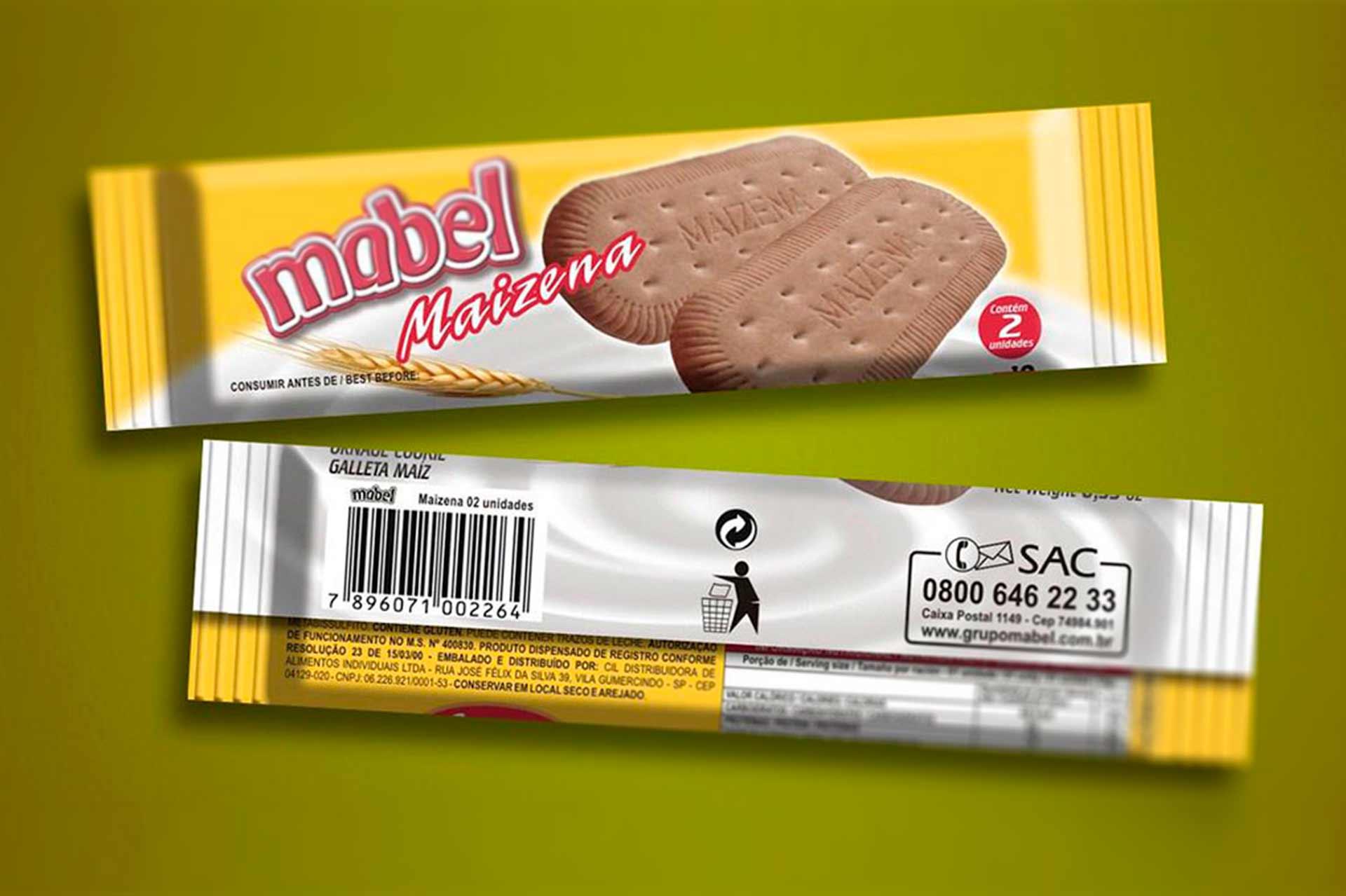 Design de embalagem Biscoitos Mabel