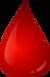 Gota de sangue para teste rápido
