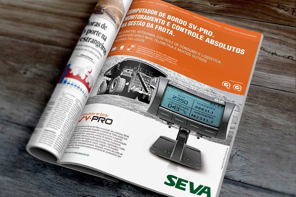 Seva Engenharia - Tacógrafo digital, Anuncio, impresso, folheteria, marketing, comunicação, branding