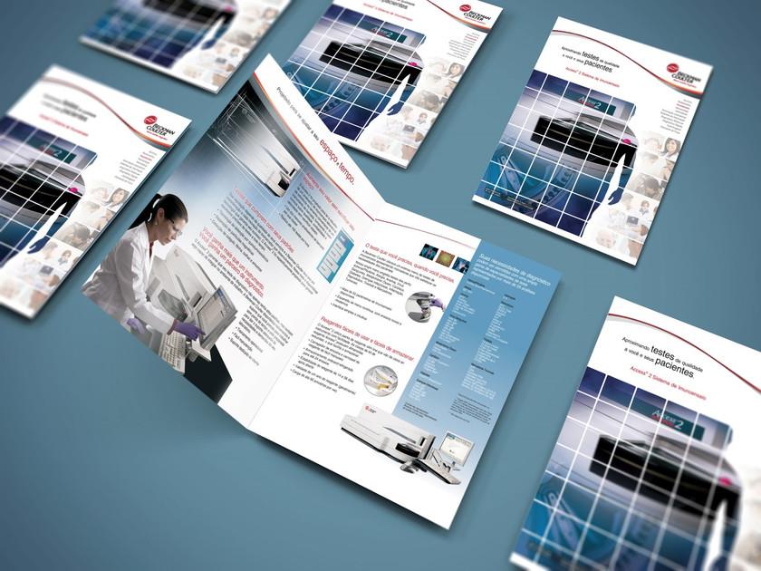 Beckman Coulter - anuncio, revista, design gráfico para publicação, editoração, editorial, diagramação, folheteria, impressos.