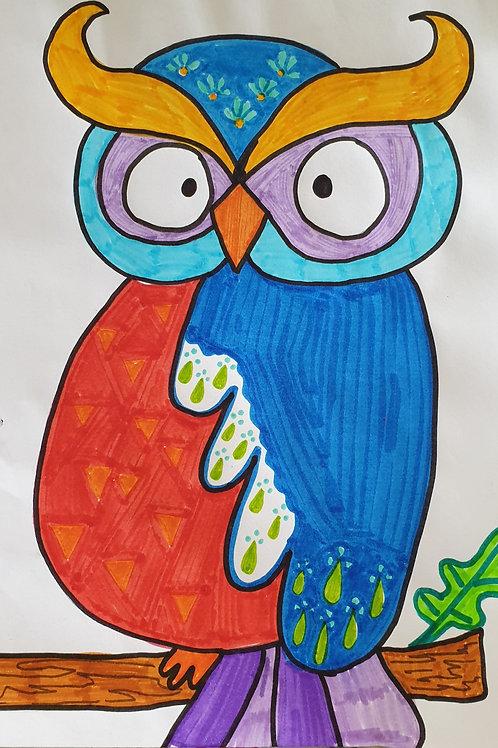 How to Draw an Owl (2 Ways)