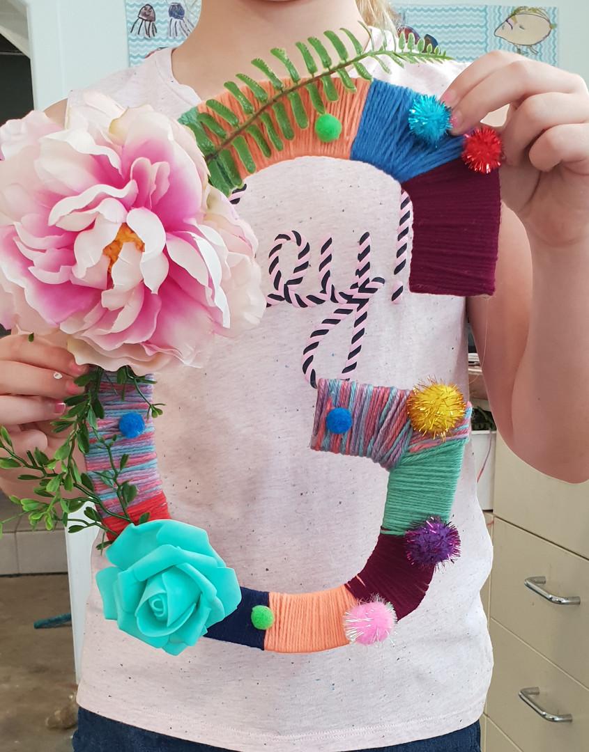 Yarn & Floral Monogram