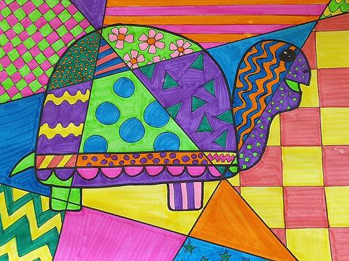Pop Art Tortoise- 2 Activities in 1