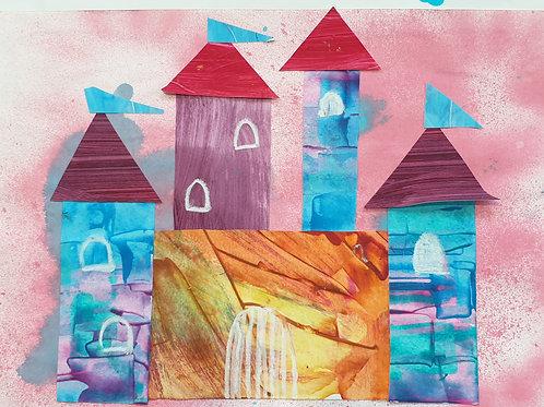 Painted Paper Princess Castle