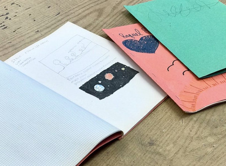 Drawing Prompts & How to Make a Homemade Sketchbook
