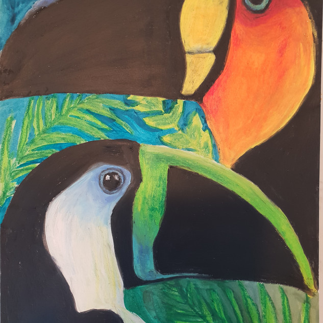 Tropical Toucan Painting