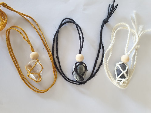 Interchangeable Crystal Pouch Necklace